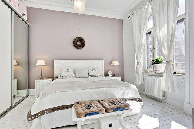 современная спальня в скандинавском стиле
