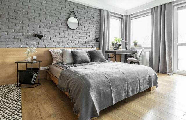 спальня гостиная в скандинавском стиле