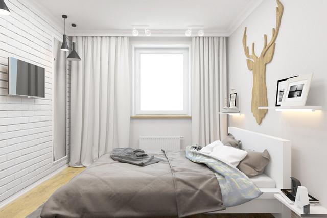спальня в скандинавском стиле дерево