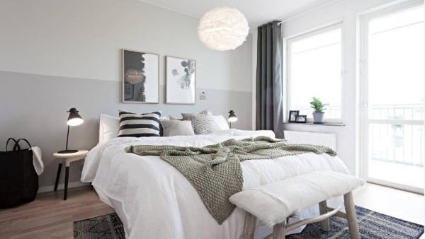 спальня в скандинавском стиле уютный интерьер