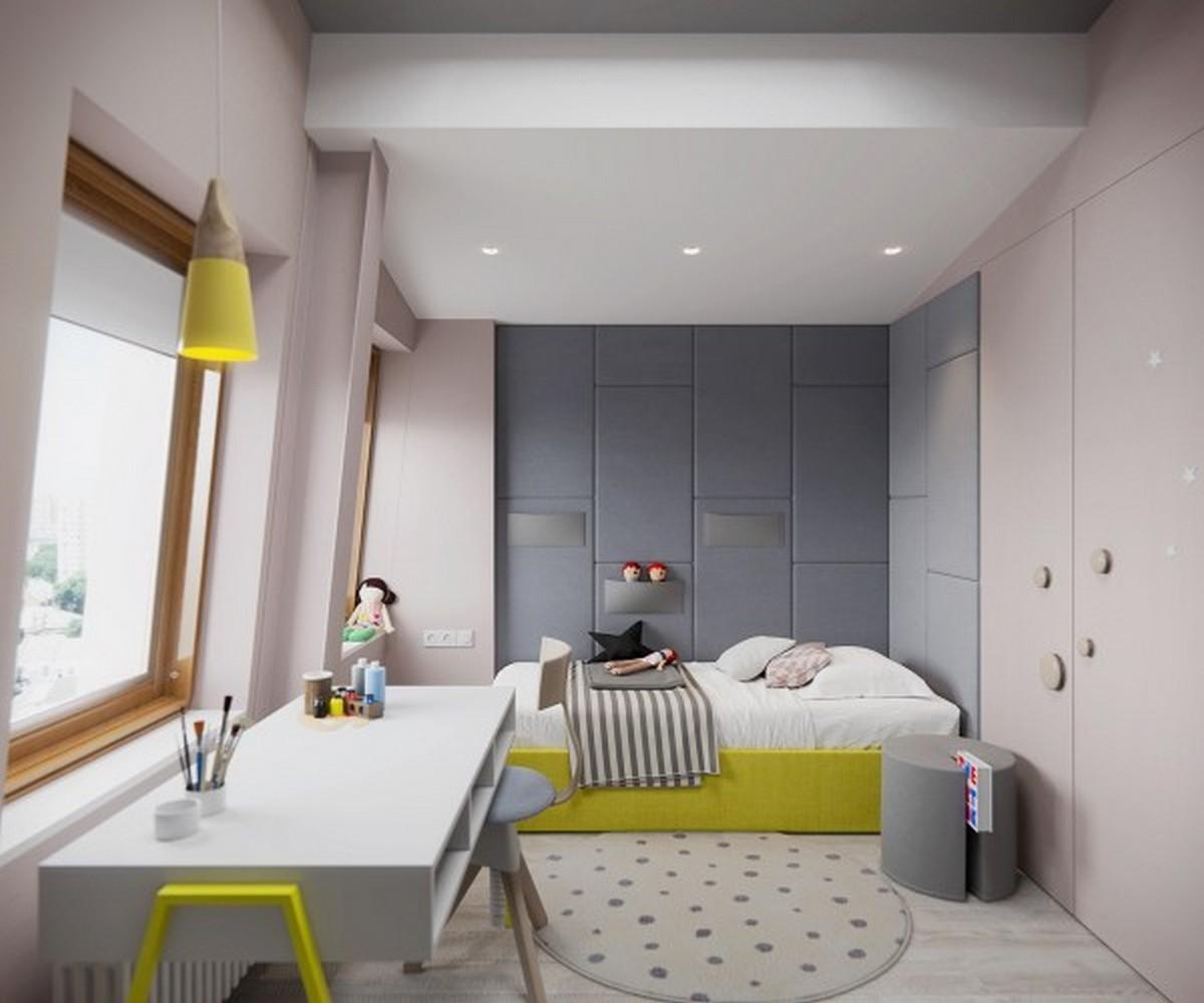 освещение в детской комнате кремового цвета