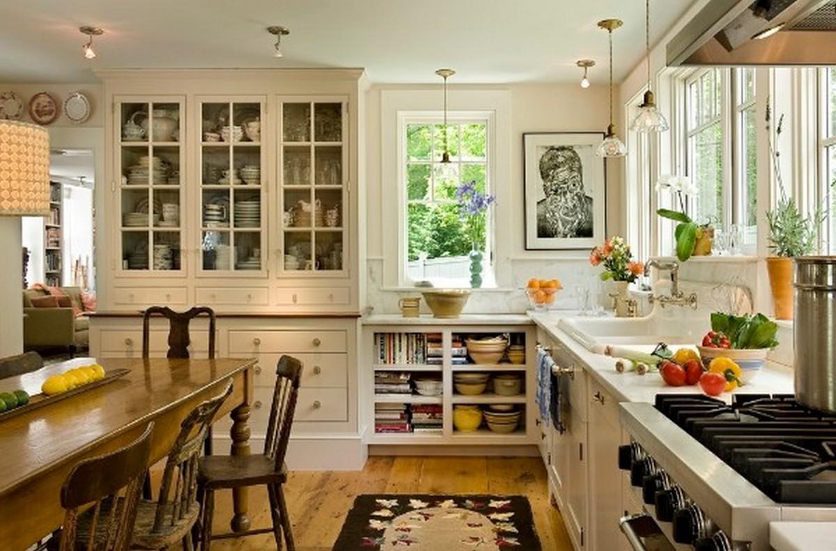 белая кухня в английском стиле