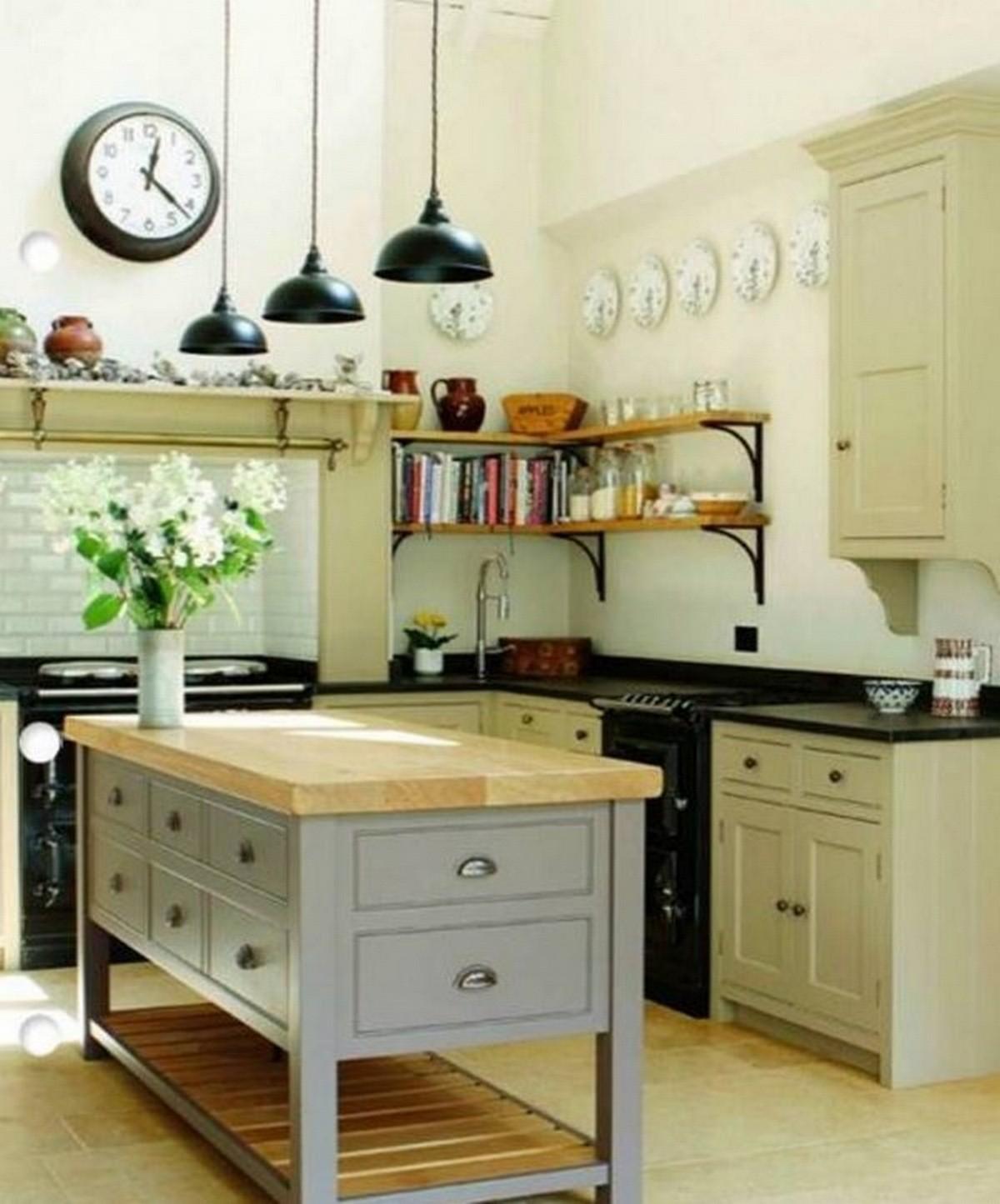 бледно-оливковая кухня в английском стиле