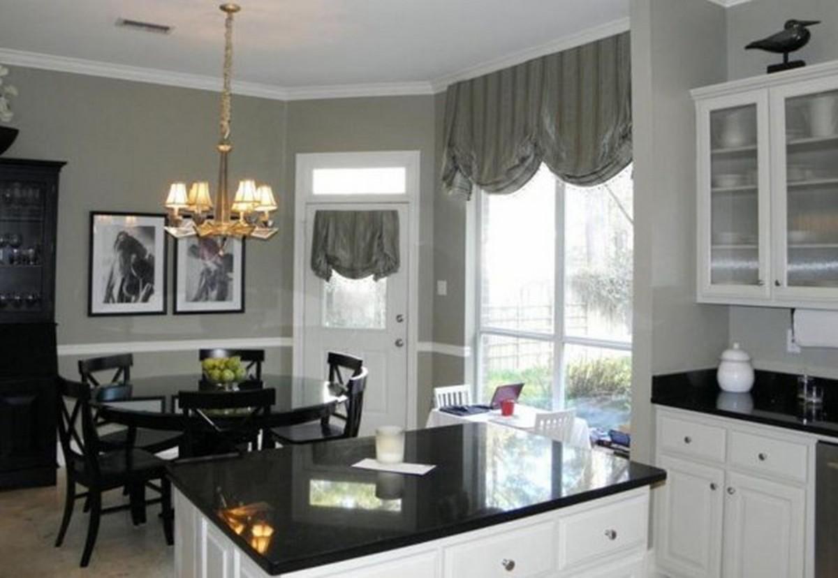 чёрно-белая кухня в английском стиле