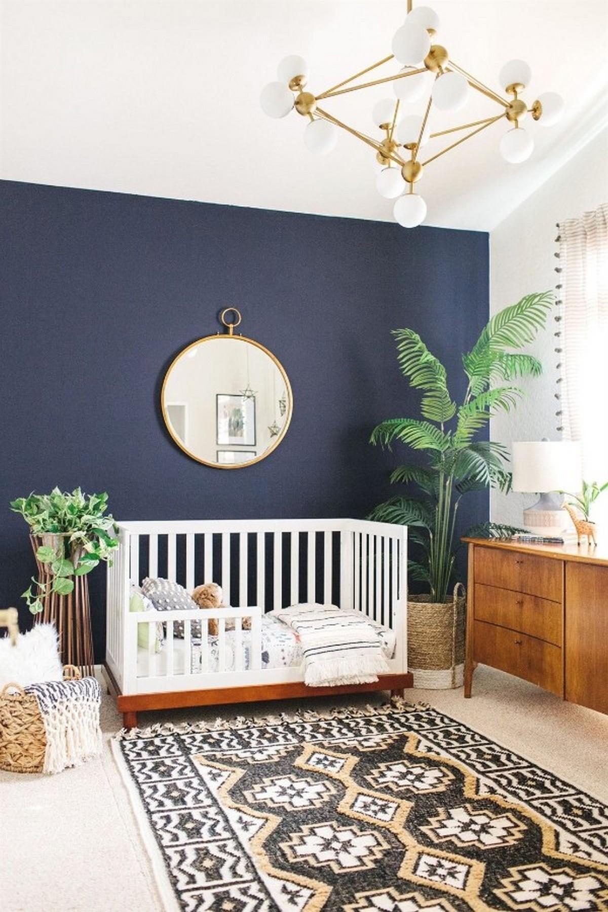 детская комната дизайн освещения лаконичный интерьер