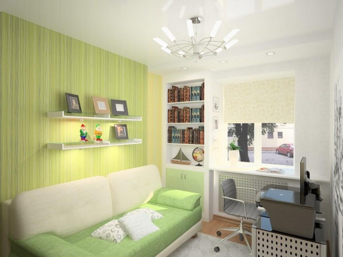 детская комната дизайн освещения с люстрой