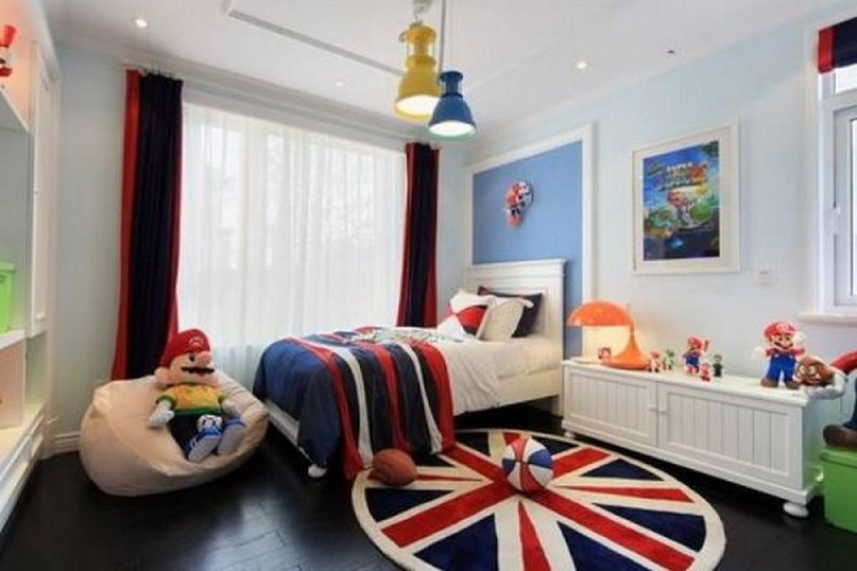 детская комната в лондонском стиле дизайн освещения