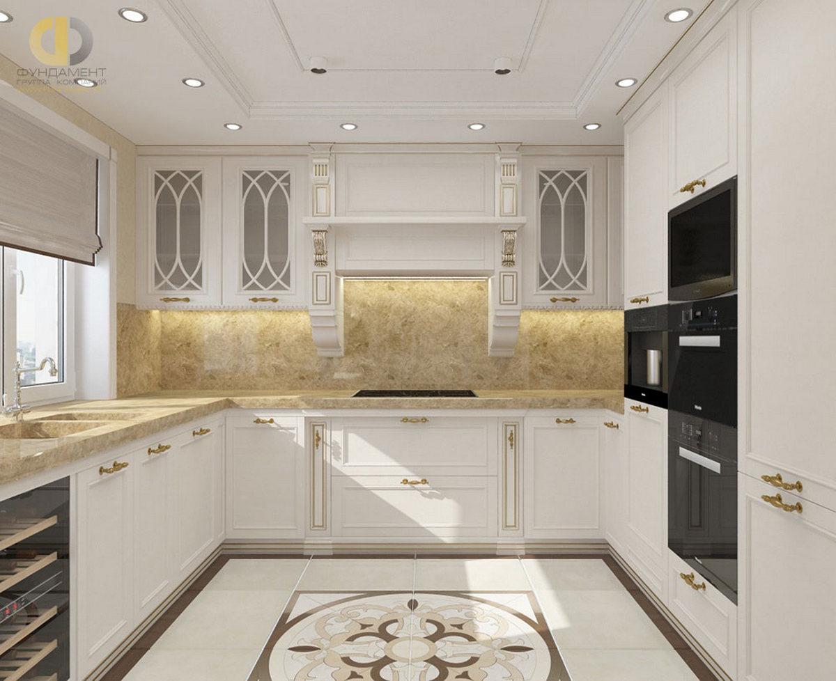 дизайн кухни 12 кв м классика