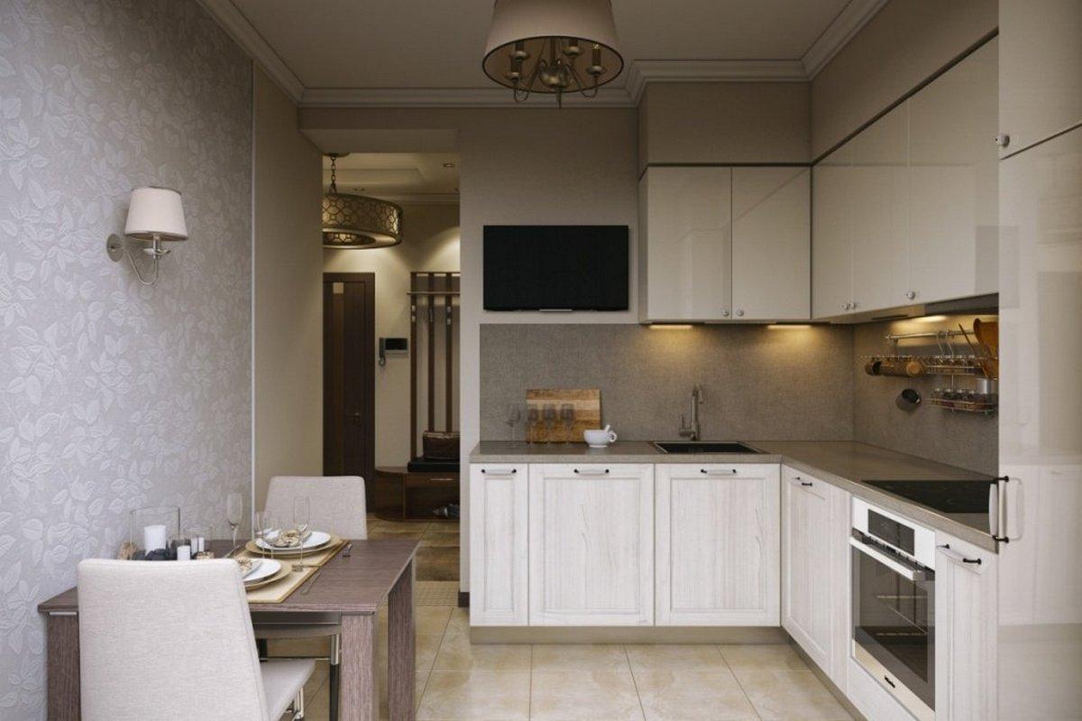 дизайн кухни 12 кв м с балконом фото