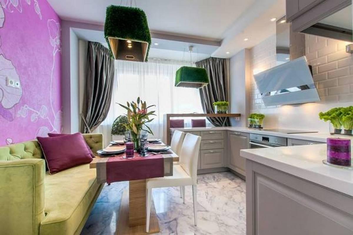 дизайн кухни гостиной 12 кв м фото