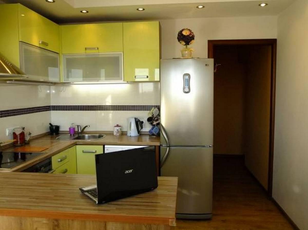 дизайн кухни гостиной 12 кв м п образная планировка