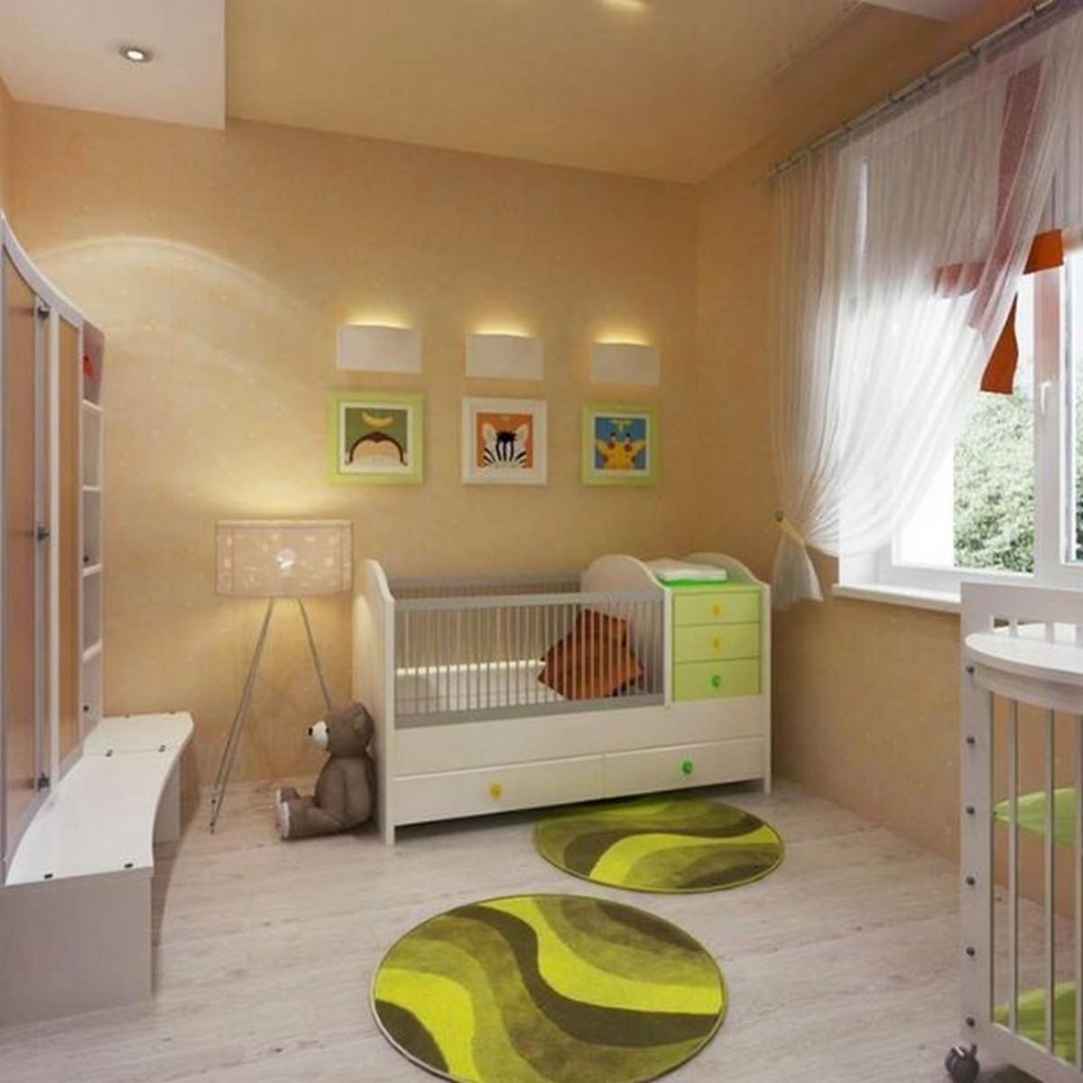 дизайн освещения в детской комнате малыша