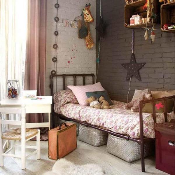 дизайн спальни в стиле лофт детская
