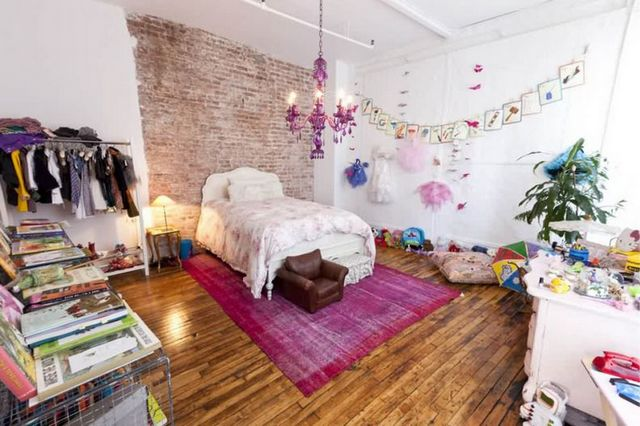 дизайн спальни в стиле лофт для девочки
