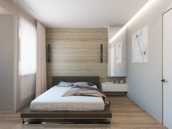 элегантная спальня в современном стиле