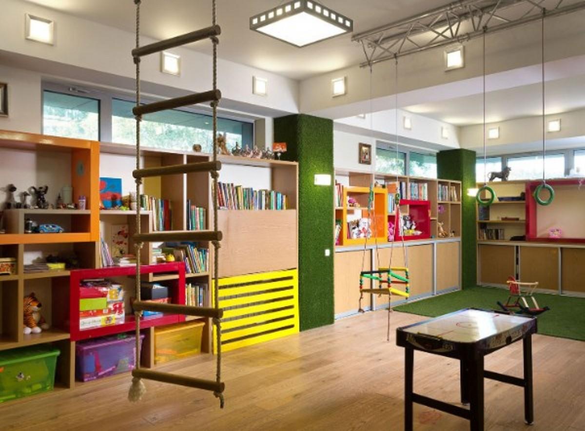 интересный дизайн освещения в детской комнате