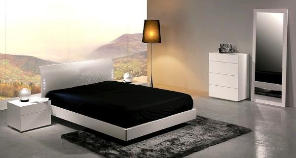 красивая спальня в современном стиле