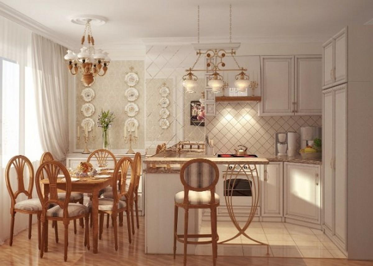 кремовая кухня в английском стиле