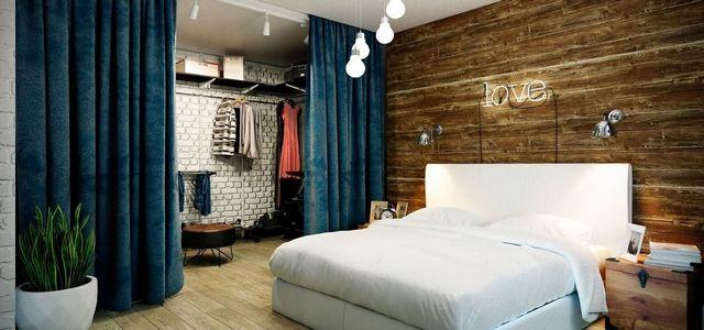 кровать спальни в стиле лофт