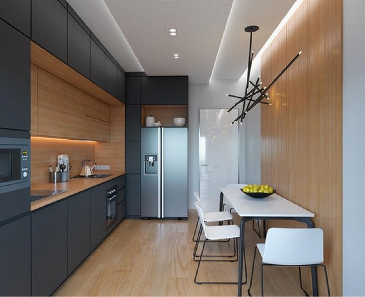 кухня мебель стиль хай тек