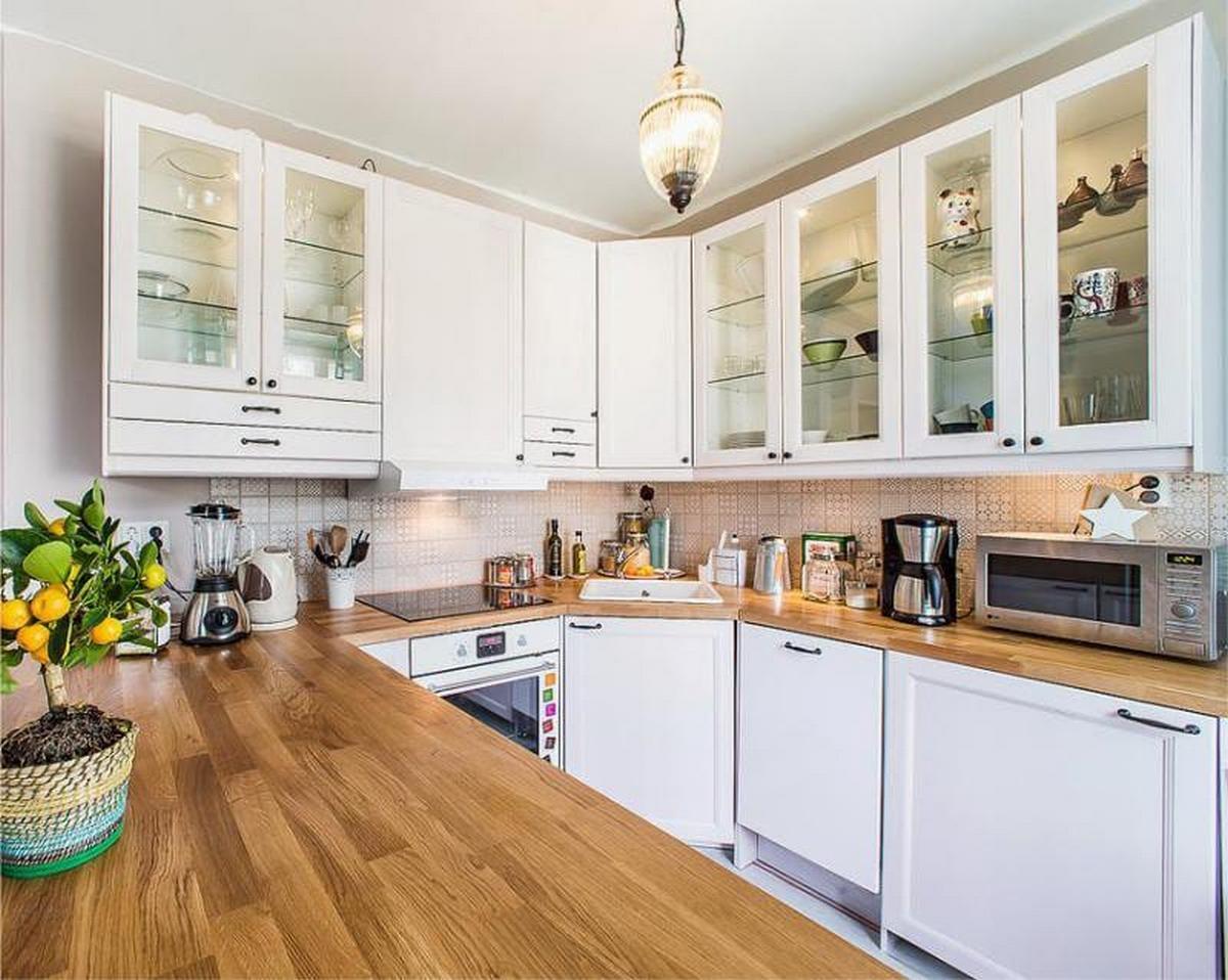 кухня угловая 12 кв м дизайн пример