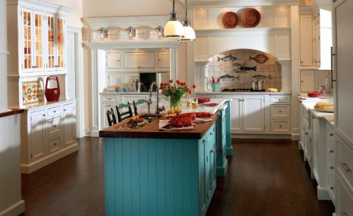 кухня в английском стиле белого цвета