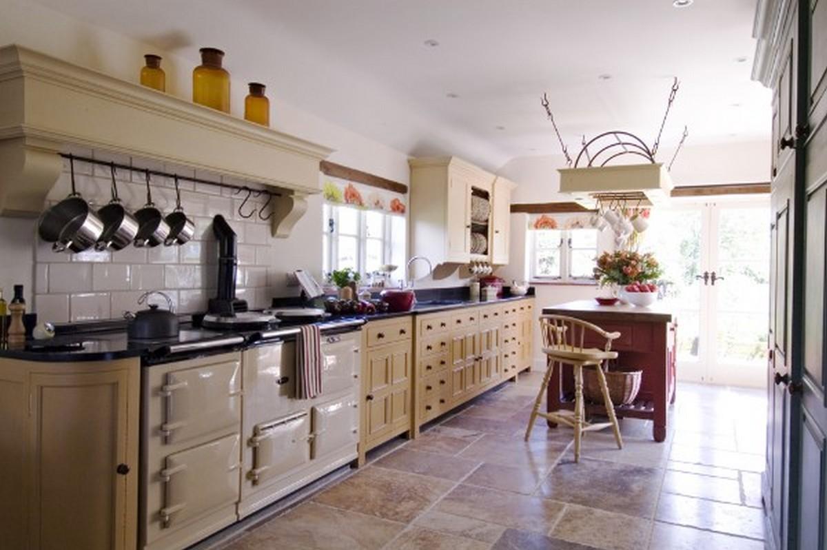 кухня в английском стиле цвет слоновой кости