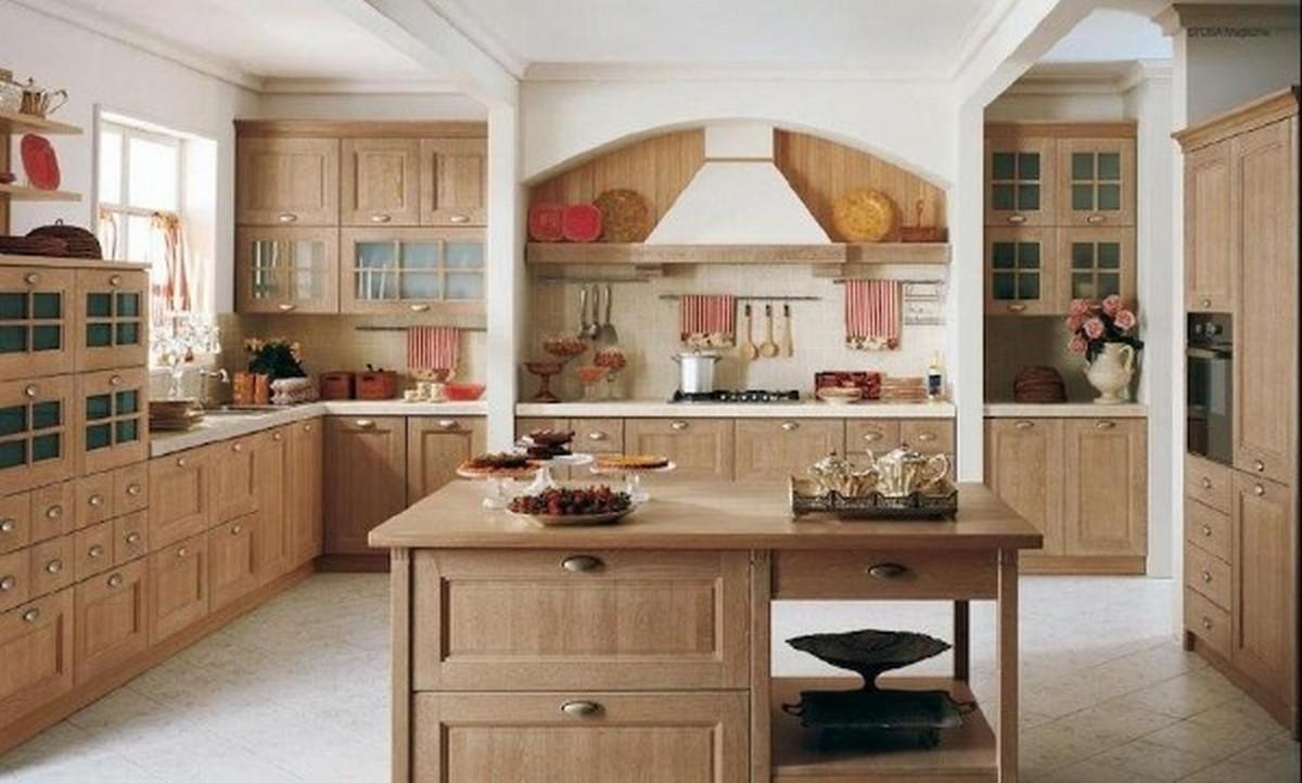 кухня в английском стиле цвета светлый орех