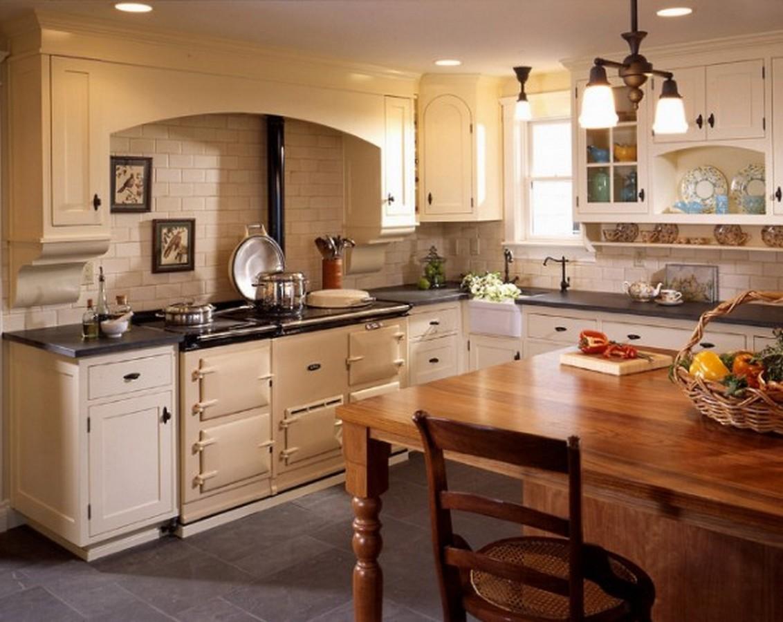 кухня в английском стиле угловая планировка