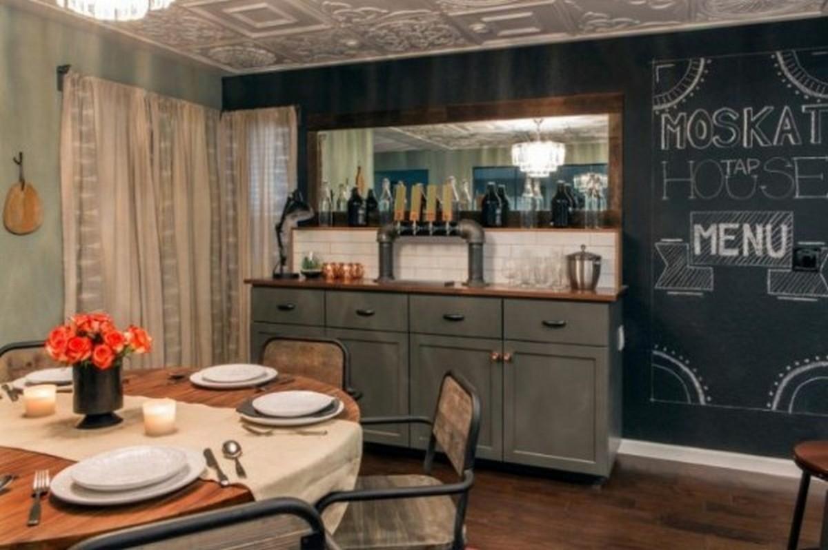кухня в стиле английского паба