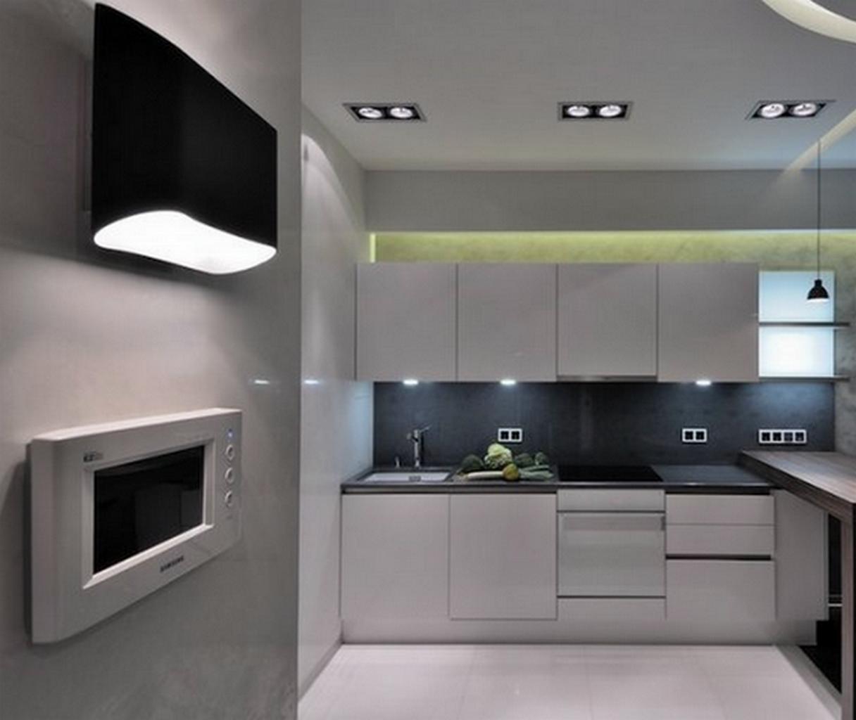 кухня в стиле хай тек фото интерьер фото