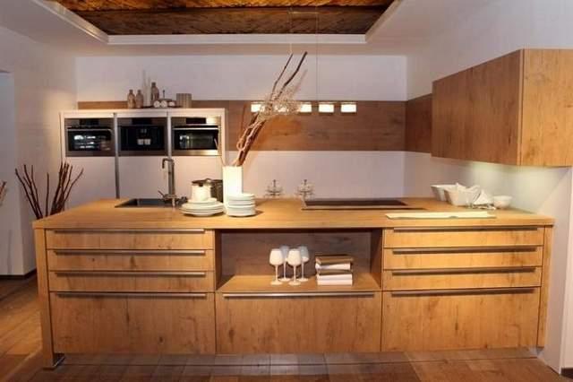 кухонная мебель из дерева фото