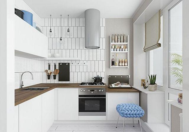 кухонная мебель со стойкой фото