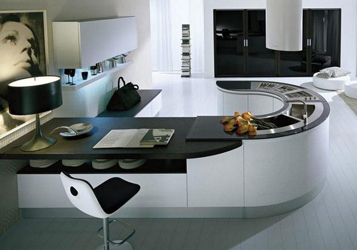 маленькая кухни в стиле хай тек фото