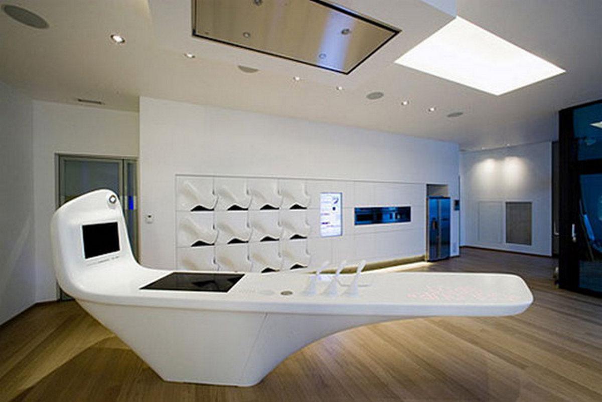 мебель кухни в стиле хай тек