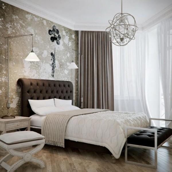 неординарная спальня в современном стиле