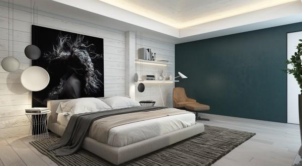интересные светильники спальня в современном стиле
