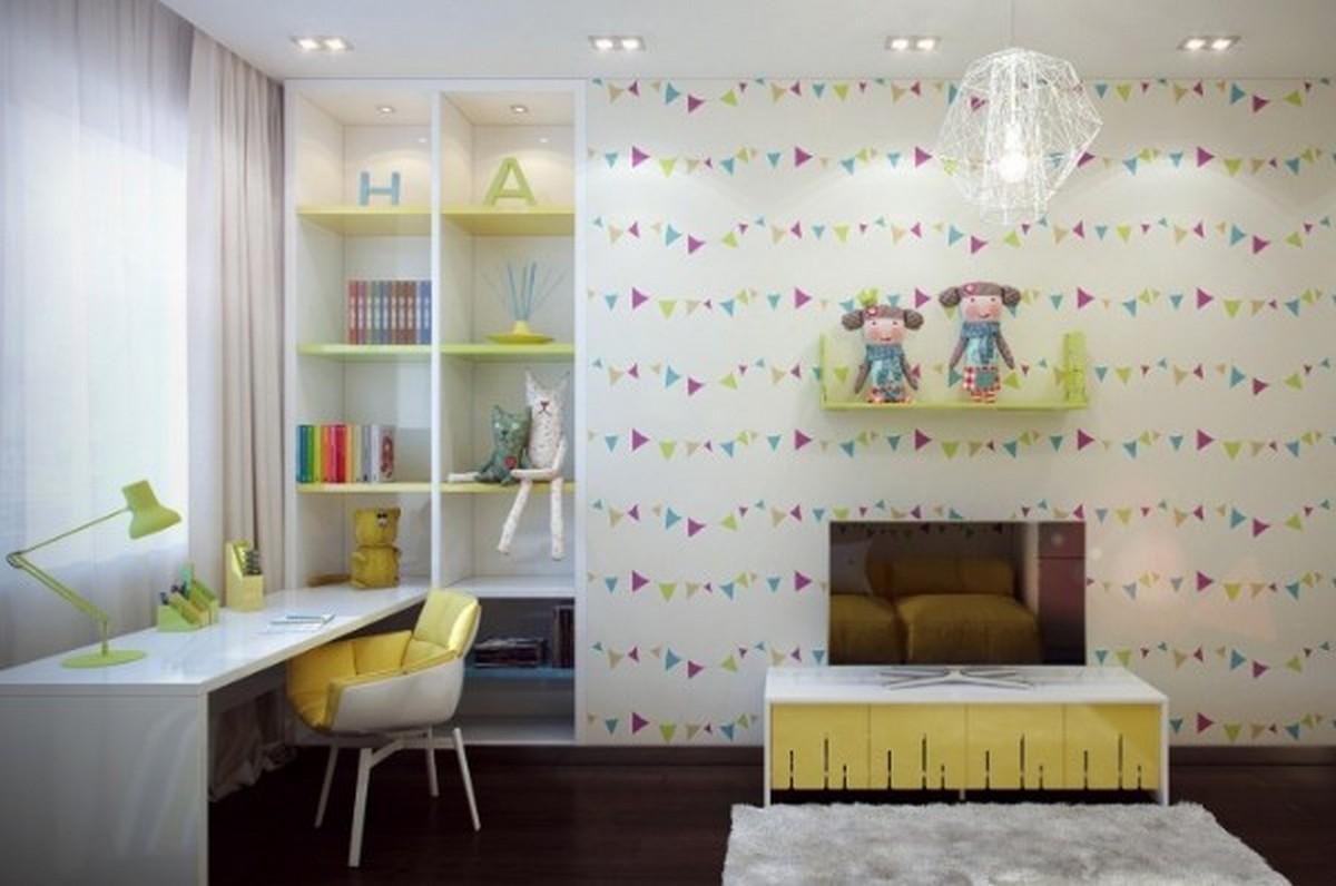 организация освещения в детской комнате современный дизайн