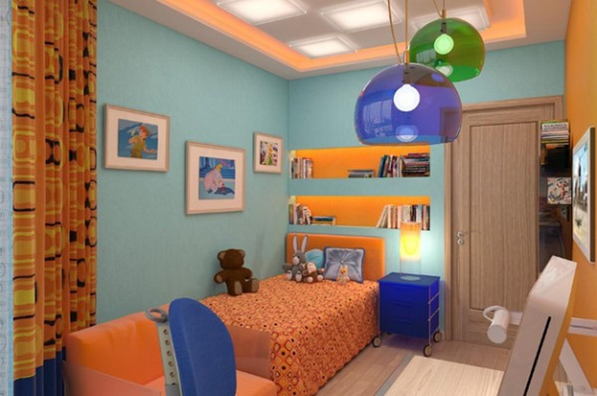 организация освещения в детской комнате встроенные светильники