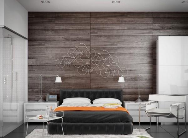 оригинальная спальня в современном стиле