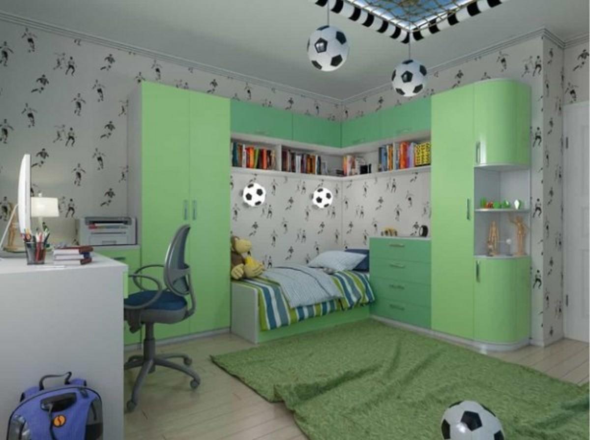 освещение в детской комнате дизайн светильников в виде футбольных мячей