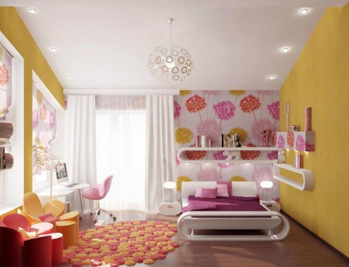освещение в детской комнате люстра в виде одуванчика