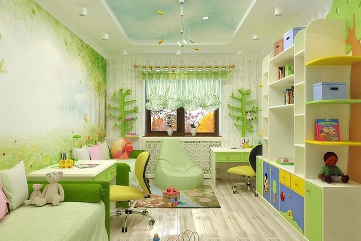 освещение в детской комнате люстра и светильники