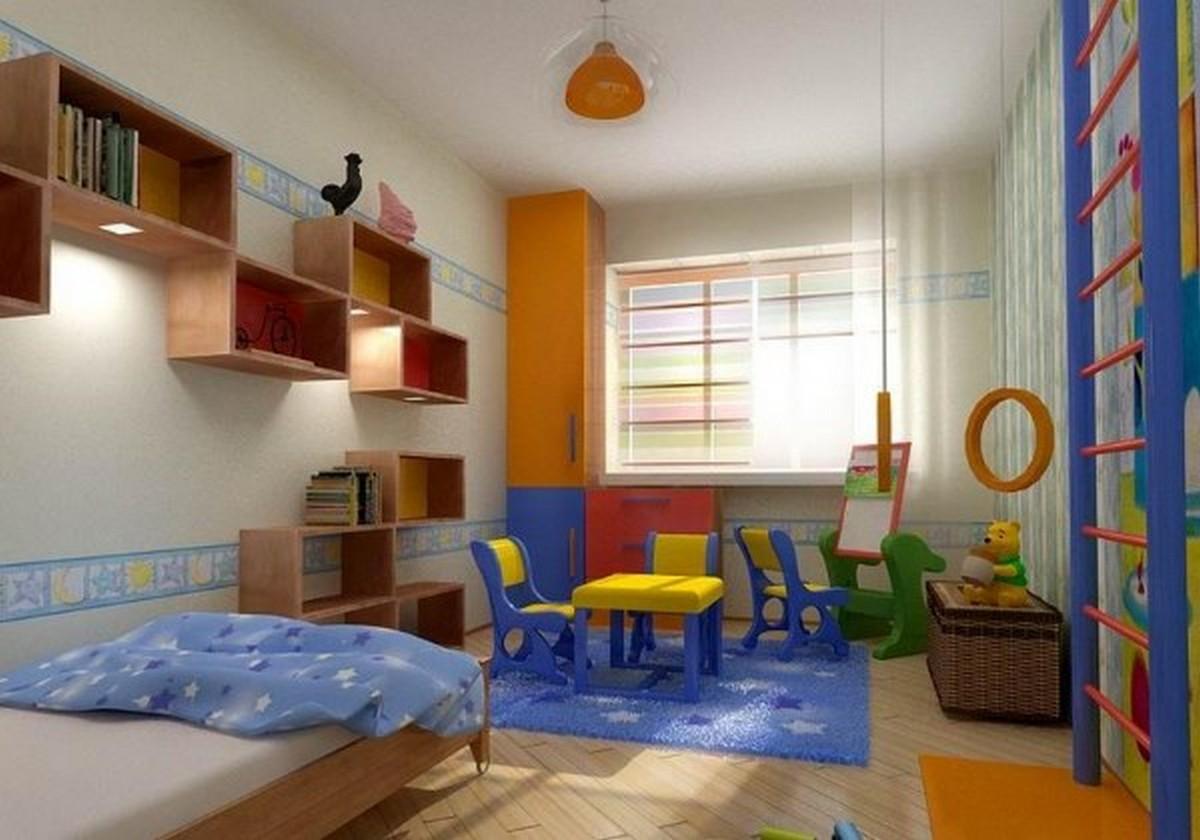 освещение в детской комнате зонирование