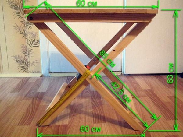 походный раскладной стол своими руками замеры