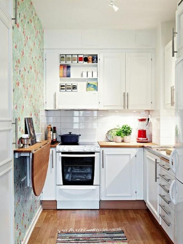 пристенный раскладной стол своими руками для небольшого кухонного помещения