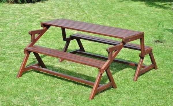 раскладной стол скамейка