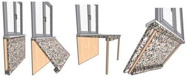 раскладной стол своими руками на балкон схема