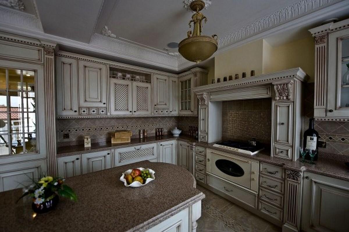 серая кухня английском стиле
