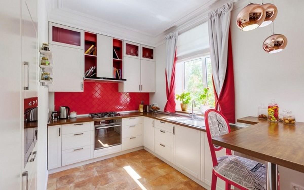 современная кухня в английском стиле сочетание белого и розового